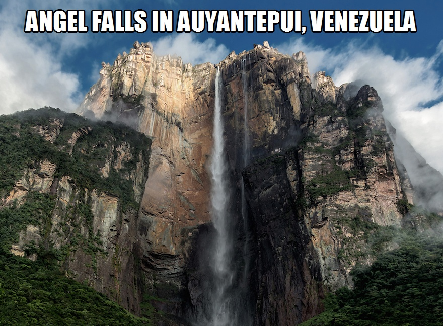 CLUB GIGGLE angel-falls Club Giggle's 10 Most Breathtaking Waterfalls In The World