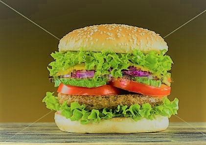 Delicious home made burger