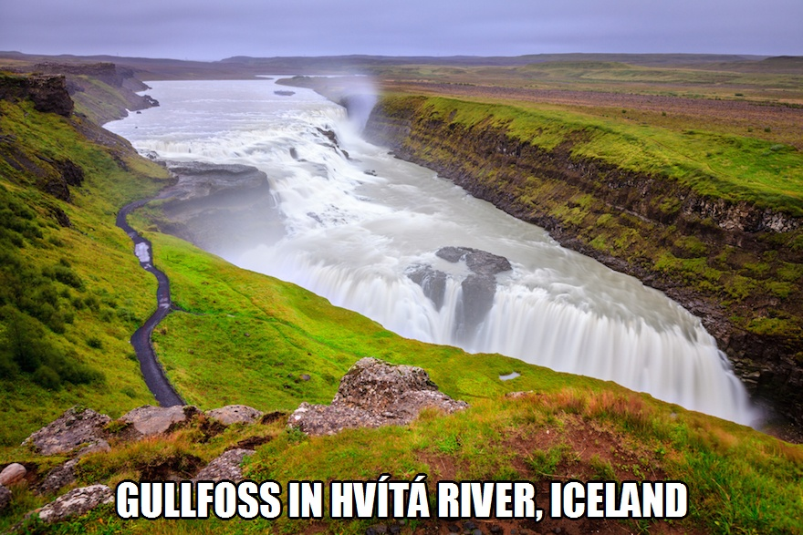 CLUB GIGGLE gullfoss-falls Club Giggle's 10 Most Breathtaking Waterfalls In The World