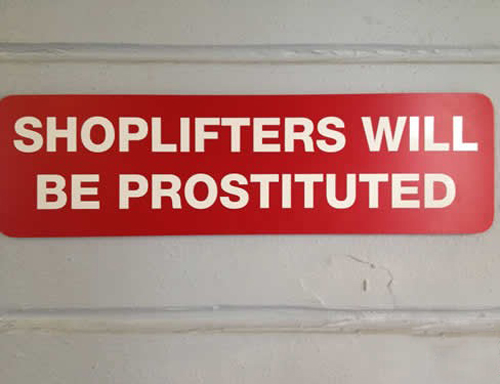 CLUB GIGGLE harsh-punishment 21 Funny Signs From Around The World