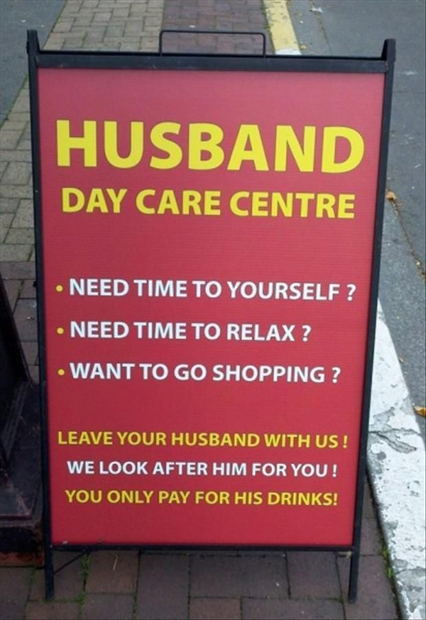 CLUB GIGGLE husband-daycare 21 Funny Signs From Around The World