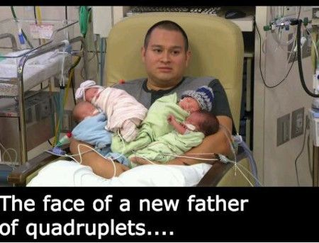 CLUB GIGGLE new-father-after-quadreplets Face Of The New Father After quadruplets  4/11/2017