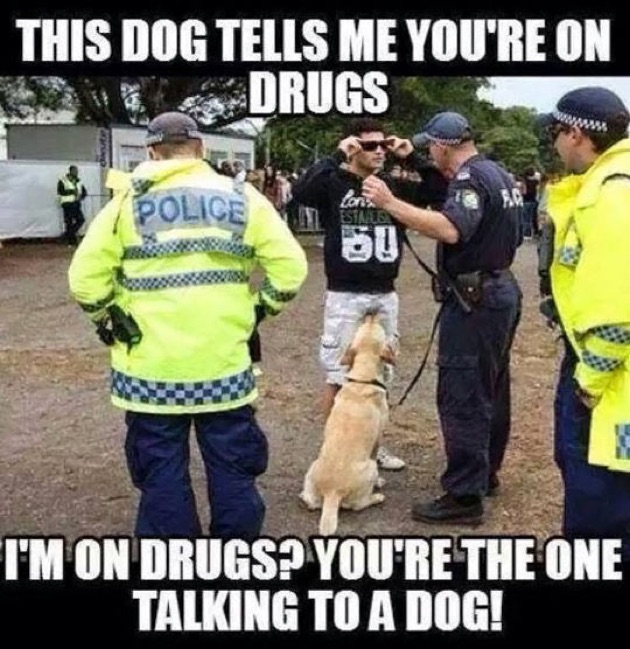 CLUB GIGGLE you-are-drugs Club Giggle's Funny Police Pictures 4/13/2017