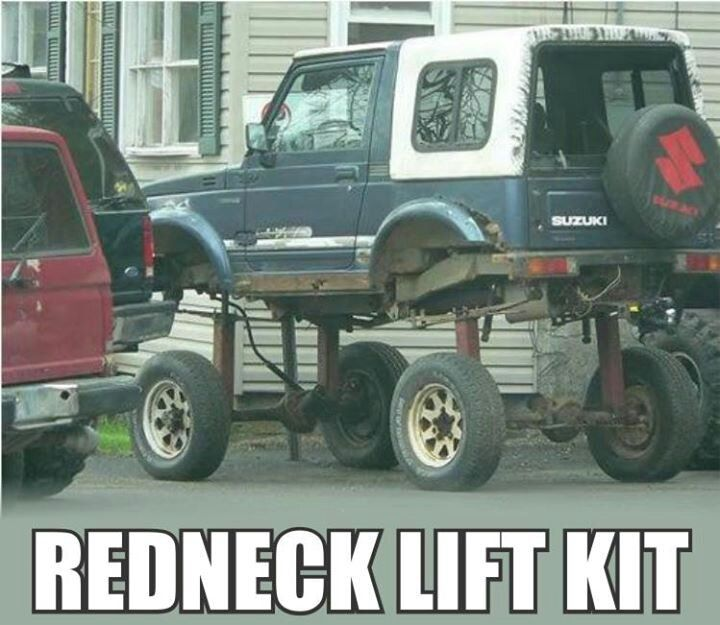CLUB GIGGLE Funny-Redneck-Meme-Redneck-Lift-Kit-Picture Club Giggle's 16 Redneck Pictures Of the Day  5/13/2017