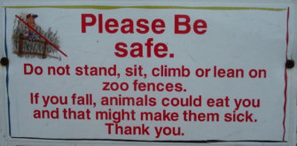 CLUB GIGGLE be_safe Club Giggle's 24 Funny Signs  5/6/2017