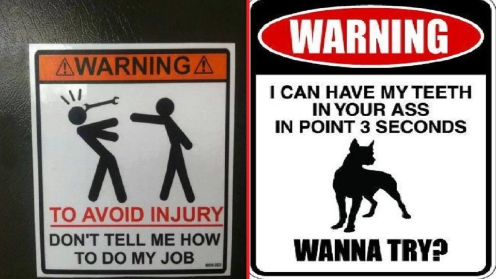 CLUB GIGGLE funny-warning-sign Club Giggle's 24 Funny Signs  5/6/2017