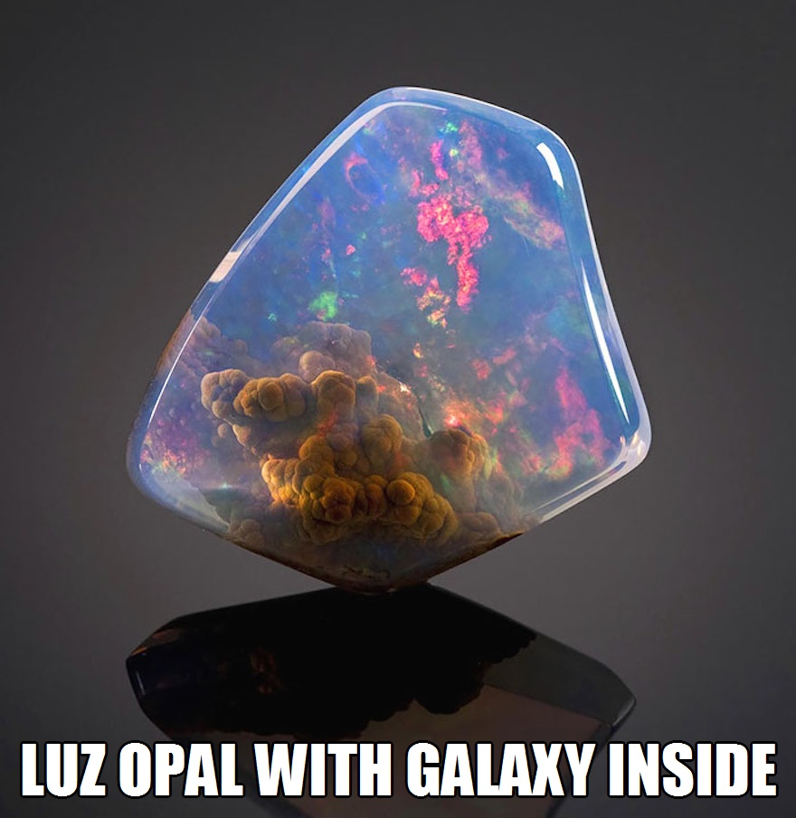 CLUB GIGGLE luz-opal-with-galaxy-inside 17 World's Most Amazing Minerals And Gemstones 5/2/2017