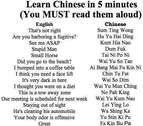 CLUB GIGGLE tumblr_m4yepvS7Pj1rukldwo1_500 30 Funny Chinese to English Translations