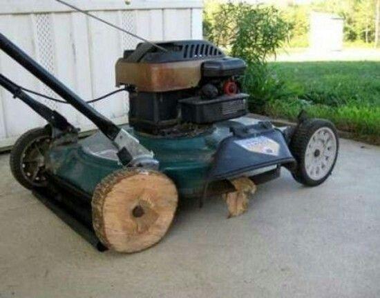 CLUB GIGGLE 4405da77f88a1936d89d4fc1a20c2805-lawn-mower-repair-redneck-humor Club Giggle's 62 Red Neck Inventions