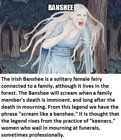 CLUB GIGGLE banshee Club Giggle's 16 most disturbing mythical creatures from around the world
