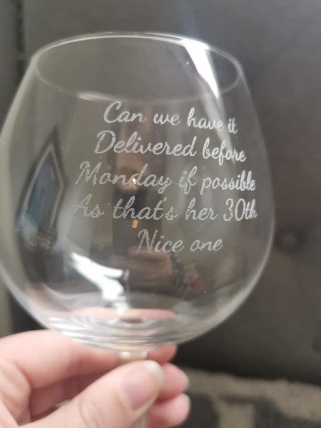 """CLUB GIGGLE tableware-can-have-delivered-before-mandday-if-posible-as-thate-her-30th-nice-one 30 Best """"Not My Job!"""" funny Pictures on the Internet..."""