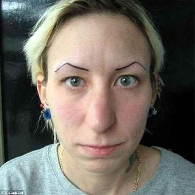 CLUB GIGGLE eyebrow-tattoo-fail2 29 Angry Birds Eyebrow Tattoo Fails ....