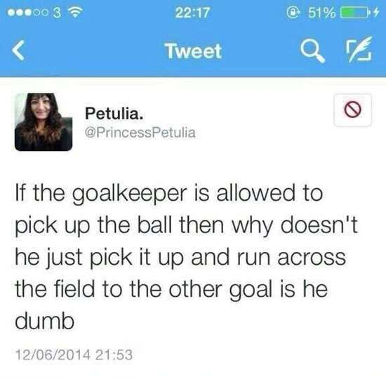 CLUB GIGGLE football Top 23 Dumb Tweets That will Make You Dumber