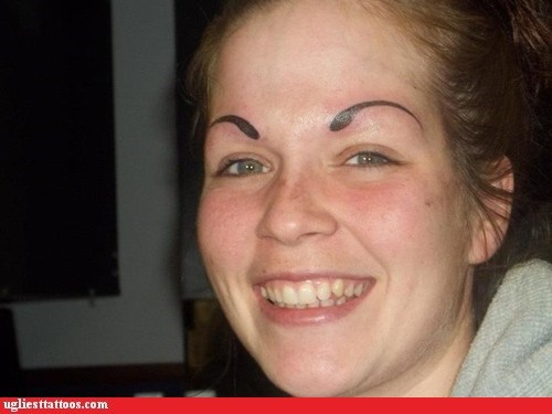CLUB GIGGLE forever-surprised 29 Angry Birds Eyebrow Tattoo Fails ....