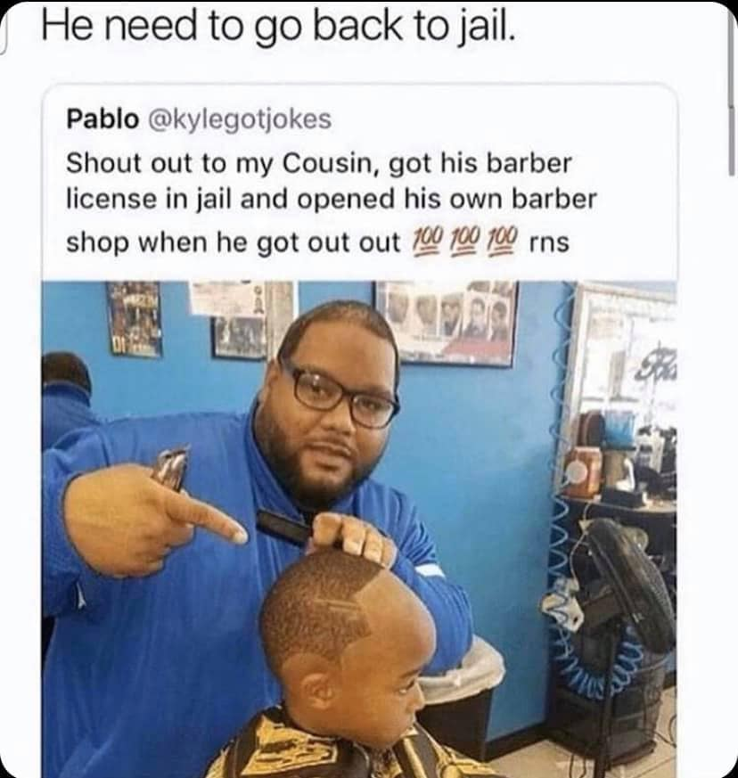 CLUB GIGGLE barber 28 Funny Memes From The Dark Side....