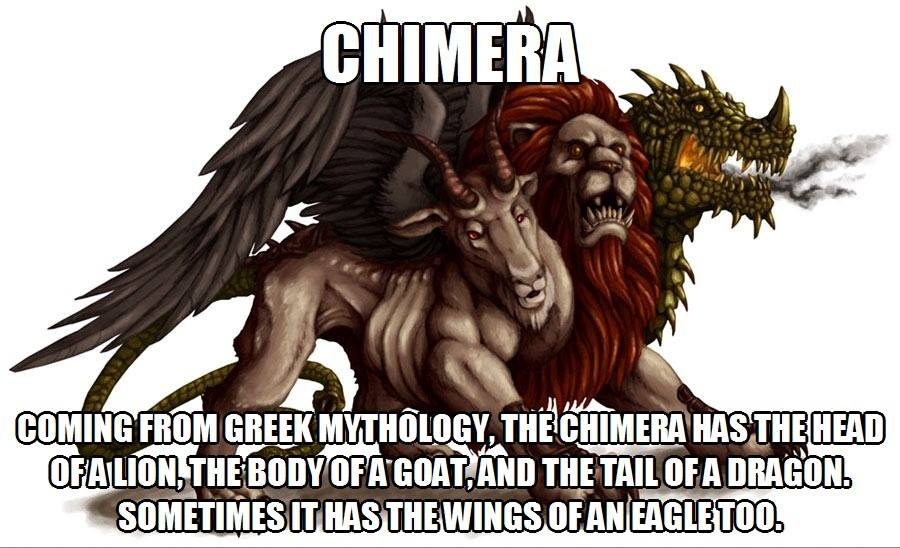 CLUB GIGGLE chimera 20 Weird And Mythical Creatures of The World....