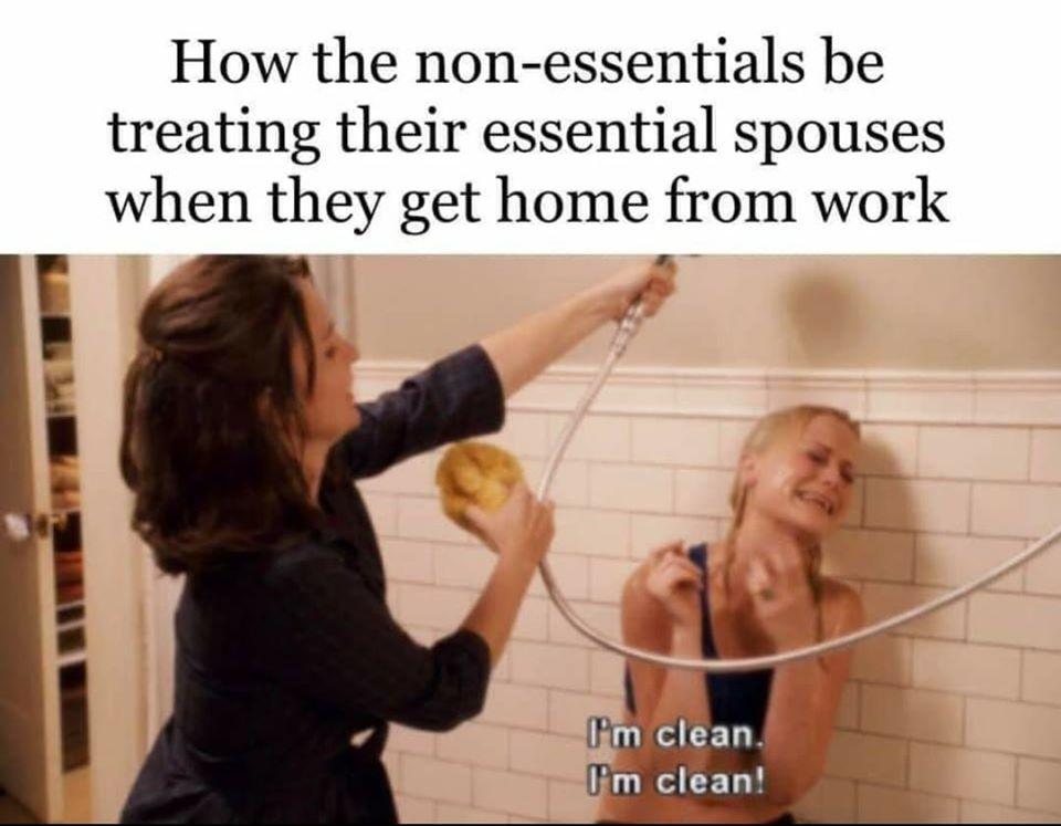 CLUB GIGGLE non-essential 31 Funny Quarantine Memes to Reduce Your Boredom...