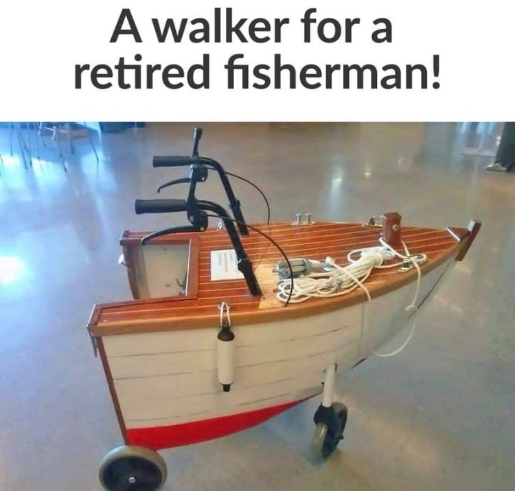 CLUB GIGGLE walker-for-retired-fisherman 29 Covid Free Funny Memes....