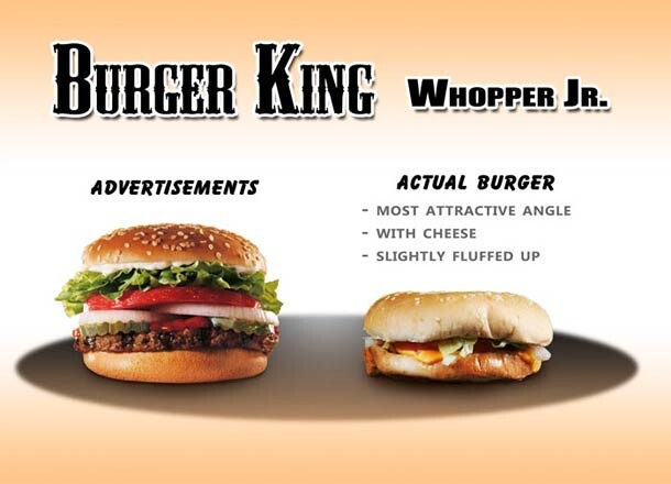 CLUB GIGGLE Advertised-And-Real-Burgers-Compared-5 20 Pictures Of Deceptive Fast Food Vs Reality...