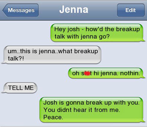 CLUB GIGGLE Awkward-Breakup-Texts11 20 Awkward Break Up Texts...