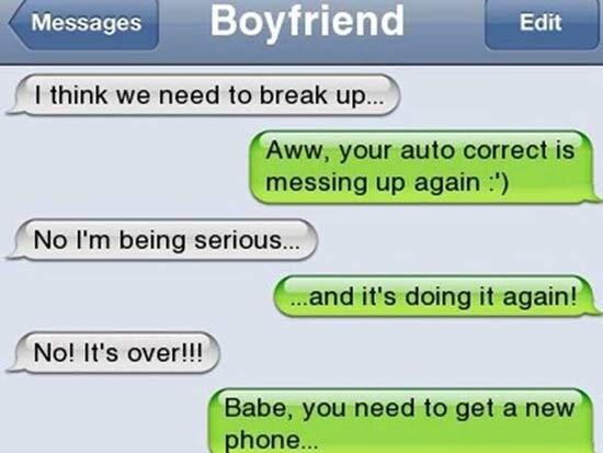 CLUB GIGGLE Awkward-Breakup-Texts12 20 Awkward Break Up Texts...