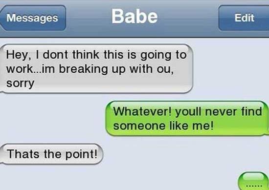 CLUB GIGGLE Awkward-Breakup-Texts15 20 Awkward Break Up Texts...