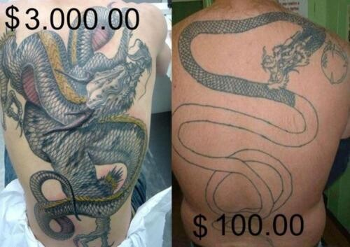 CLUB GIGGLE cheap-tattoos You Get What You Pay For Cheap Vs Expensive Tattoos 25 Pics