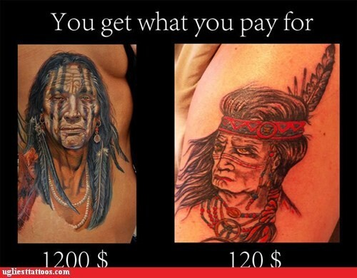 CLUB GIGGLE cheap-vs-expensive-15 You Get What You Pay For Cheap Vs Expensive Tattoos 25 Pics