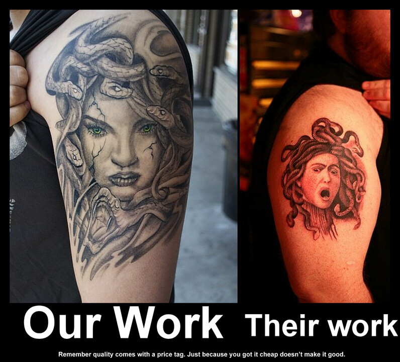 CLUB GIGGLE cheap-vs-expensive-16 You Get What You Pay For Cheap Vs Expensive Tattoos 25 Pics