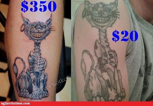 CLUB GIGGLE cheap-vs-expensive-6 You Get What You Pay For Cheap Vs Expensive Tattoos 25 Pics