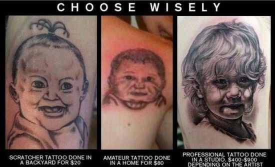 CLUB GIGGLE cheap-vs-expensive-9 You Get What You Pay For Cheap Vs Expensive Tattoos 25 Pics