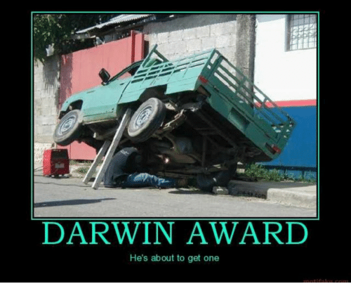 """CLUB GIGGLE darwin-award-hes-about-to-get-one-31273916 Top Answer Still On The Board... Show Us """"Darwin Awards!""""30 Pics"""