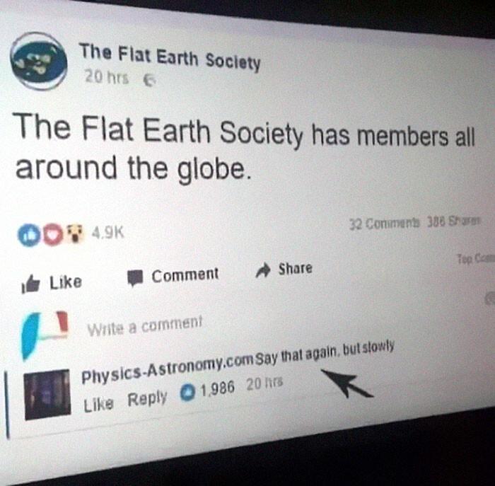 CLUB GIGGLE flat-earth-meme4 29 Hilarious Flat Earth Meme On The Internet...