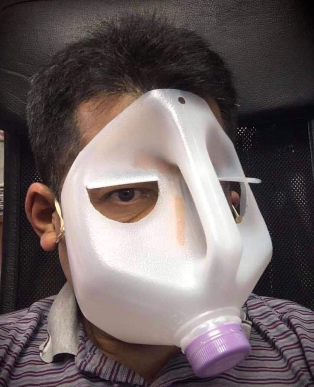 CLUB GIGGLE funny-masks9 Top 34 Hilariously Creative Ways People Are Protecting Themselves That Are Questionable...