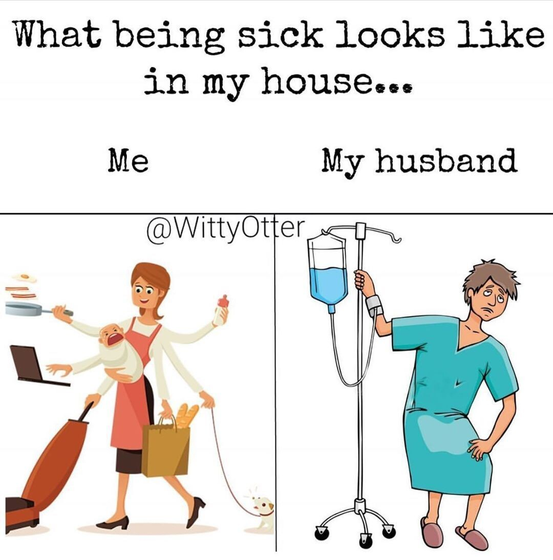 CLUB GIGGLE 11-2 25 Funny Memes About Men who catch a Flu