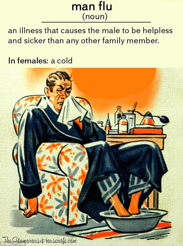 CLUB GIGGLE 2-3 25 Funny Memes About Men who catch a Flu