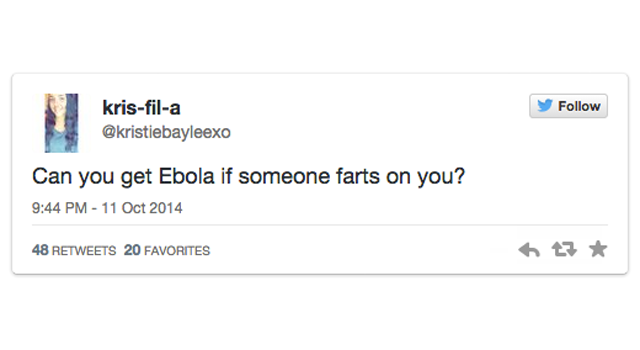 CLUB GIGGLE Ebola-Tweet Top 40 Of The Dumbest Things People Have Said On The Internet
