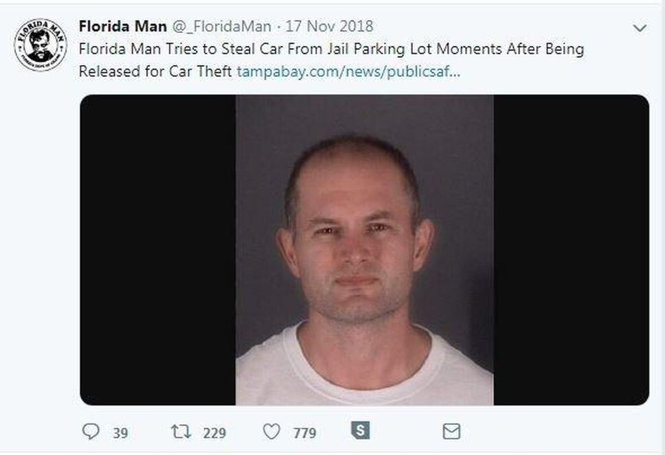 CLUB GIGGLE florida_man FLORIDA MAN IN HEADLINES 25 TIMES AGAIN.. RUNNING AMOK AS ONLY HE CAN.......
