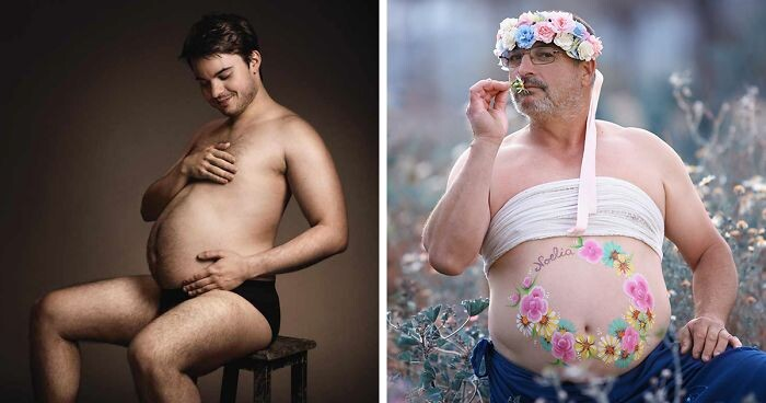 CLUB GIGGLE funny-men 15 Beer Belly Maternity Photos...