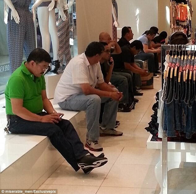 CLUB GIGGLE miserable-husband54 They Said It Will Be Fun Shopping With Wife 35 pics Of Miserable Men.