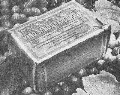CLUB GIGGLE vino-santo-grape-brick 20 Pictures Of The Prohibition Era