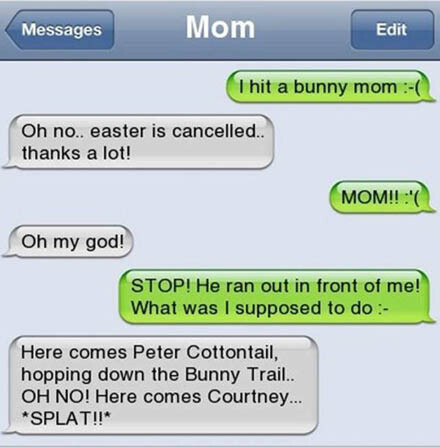 CLUB GIGGLE 2 18 Funniest Texts Between Parents and Their Kids....