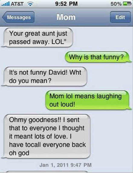 CLUB GIGGLE 5 18 Funniest Texts Between Parents and Their Kids....