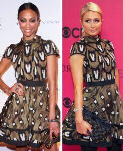 CLUB GIGGLE Zoe-Saldana-and-Paris-Hilton-244x300 Club Giggle Game: Who is the Fashionista?