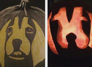 CLUB GIGGLE idea-vs-result.jpg-36881-300x217 Fail: Pumpkin Carving Edition